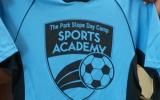 Sports Academy logo on shirt