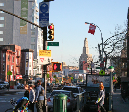 The view from Fourth Avenue and Ninth Street.